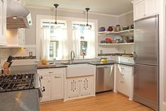 100 Square Foot Kitchen Remodel - craftsman - kitchen - minneapolis - David Heide Design Studio note the dead corners