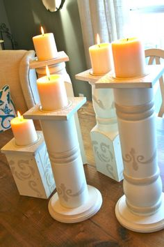 How to make huge candle holder from Porch Posts...