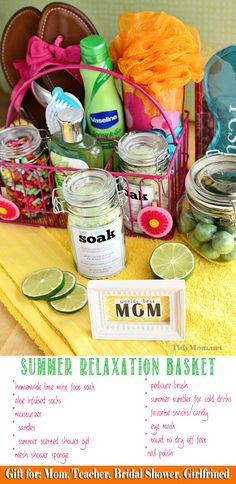 """Mother's Day Summer Relaxation Basket: even for a """"just because"""" gift."""