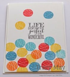A soft play ball pit with Stampin' Up! Brights Collection  Happy Congratulations, Perfect Penants