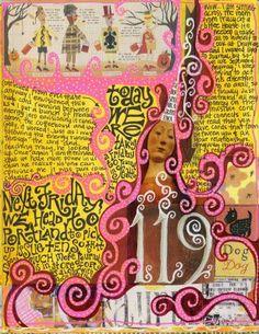 Art journaling by Teesha moore - love her!