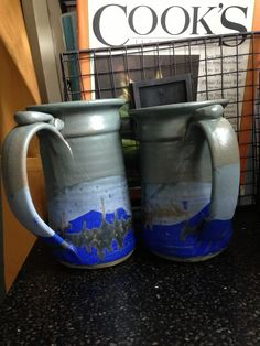 Love these pottery beer mugs from Pottery Rowe in Louisville.