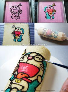 Doraemon Cake Roll