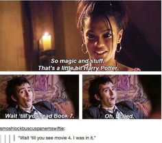 I totally accept the headcanon that he went there during the filming in his TARDIS and fangirled and sassed until they finally gave him a part.