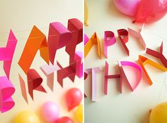 3D Birthday Banner DIY