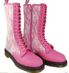 Pink Dr. Martens