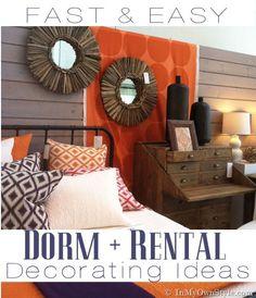 diy ideas, decorating ideas, rental decorating, dorm ideas, dorm rooms, storage ideas, dorm decorations, college dorms, decor idea