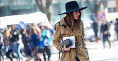 Fall's Wide-Brimmed Fedora Will Make You Look Like an It Girl - HAT - SOMBRERO - CHAPEAU - HUT - CAPPELLO - #fashion #moda #mode #ootd #trench #fall