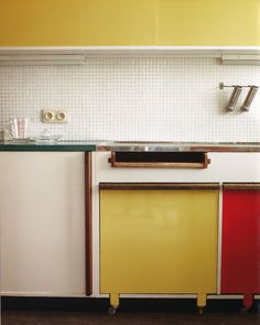 Renaat Braem, kitchen detail. Antwerp, Belgium.