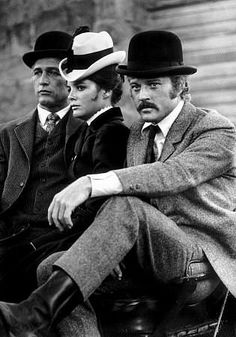"""""""Butch Cassidy and The Sundance Kid,"""" Paul Newman, Katherine Ross, & Robert Redford."""