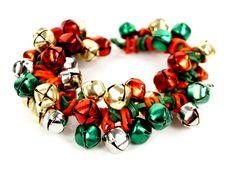 Jingle Bells Stretch Band Bracelet #kids #crafts #stretchband #loopband #loombracelet #christmas