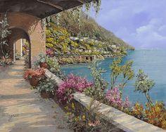 """""""Tanti Fiori Sulla Terrazza"""" (Many Flowers on the Terrace) by Guido Borelli"""