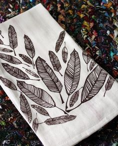 feather dish towels