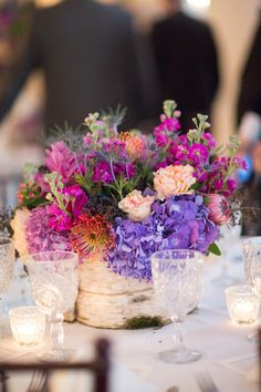 #centerpiece # purple | Taylor Lord Photography