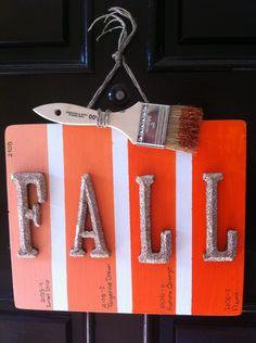 holiday, door art diy, diy halloween, paint swatches, door signs, fall wreaths, paint samples, halloween diy, paint chip crafts