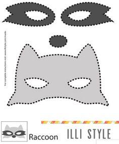 raccoon mask printable template - illistyle.com
