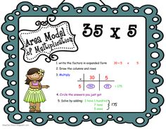 "3 Teacher Chicks: 2 digit by 2 digit area game to teach the ""why"""