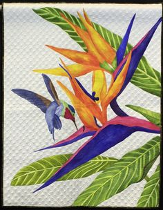 A Taste of Paradise by Deb Crine,  NQA 2013 Quilt Show Winners