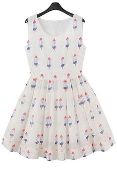 Fashion Popsicle Pattern Dress - OASAP.com