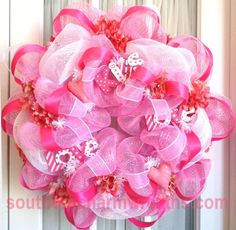 Pink Valentine's Day Wreath with ornaments!