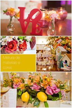 Tendências de cores e decoração de casamentos 2014 -  mistura de materiais e cores  http://zankyou.terra.com.br/p/tendencias-de-cores-e-decoracao-de-casamento-em-2014