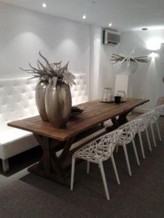 eettafel + stoelen on Pinterest  Light Wood Kitchens, Dining Tables ...