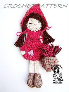 Way too cute! Little Red Riding Hood crochet pattern by VendulkaM on Etsy