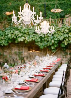 Chandleries, the ultimate accessory to an outdoor reception. Photography by Jana Morgan Photography / janamorgan.com, Event Planning by Belle Destination Weddings