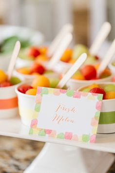 Mother's Day Brunch styled by The TomKat Studio for HGTV - Melon Balls in Cups