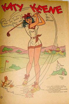 Katy Keene Golfer by Pennelainer, via Flickr