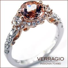 verragio engagement ring. rose gold with morganite center. i loove ittt.