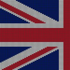 Crochet Pattern Union Jack : British flag union jack crochet afghan cross stitch ...