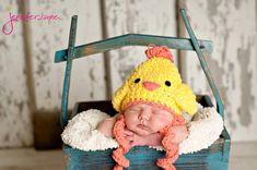 easter chicken free crochet hat pattern