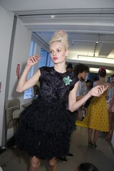 Backstage at Oscar de la Renta RTW Spring 2013