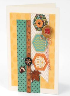 Create this Fall Hexagon Card to show off your creativity and make a fun piece to keep on the mantle.