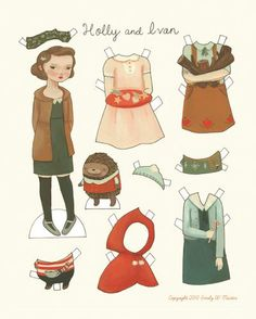 Holly and Ivan paper doll.