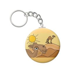 Camel in the Desert Folk Art Key Chain #camels #desert #keychain #art #folkart #animals #gifts #zazzle #petspower