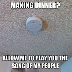 laugh, dinner bell, funni, songs, dinners, cooking, dish towels, people, smoke