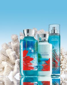 It's paradise in a bottle! Pure Paradise™ is a summer-chic blend of sparkling star fruit & ocean-kissed frangipani blossoms. #PureParadise