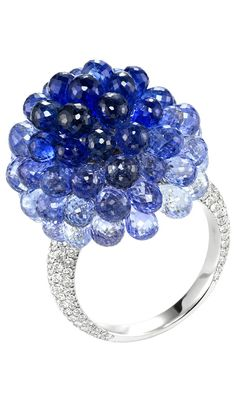 Chopard sapphire and diamond copacabana ring