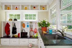 Have each family member be in charge of his or her cabient. Great idea.   #interiors #design #interiordesign #decor  www.Porch.com