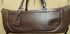 Louis Vuitton Designer Brown Epi Dhanura GM Yoga Travel Bag with Removable adjustable shoulder strap, INCLUDES YOGA MAT.    Retail Price : $1,800.00   Our Price: $750.50
