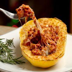 Spaghetti Squash Boats   #HealthyAperture