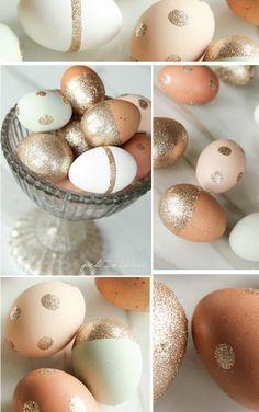 Glitter Easter Eggs from @Stef (Girl. Inspired.) #Easter #EggDecorating