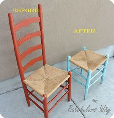 easter idea, awesom idea, food for thought, benches, chairs, chair redo, parti highlight, diy idea, stools