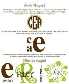 monogram ideas for silhouette cameo
