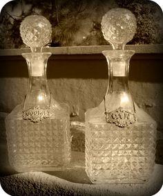 photo prop, vintage decanter