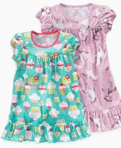 Carter's Kids Sleepwear, Big and Little Girls Graphic Print Nightgown - Kids Pajamas, Underwear & Socks - Macy's