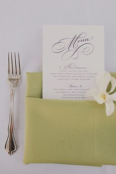 #Paper Wedding Menu
