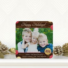 Gleeful Glitter - #Holiday Photo Cards - simplyput by Ashley Woodman in Red Lantern Red